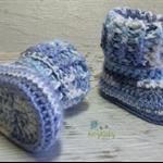 Blue toned Newborn Crochet Baby Booties