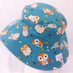 Toddler Hat ~ Owls ~ 50cm - Wide Brim