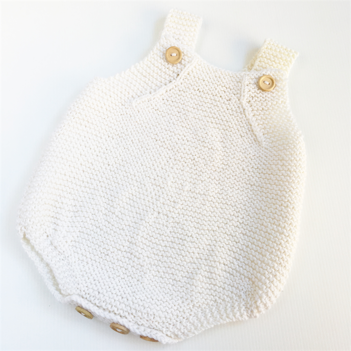8f3f88757b0d Romper - Merino Wool Knitted Playsuit baby - 6-9 months