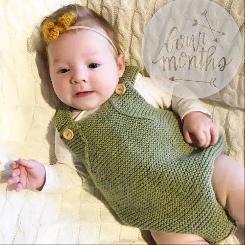 ee8a93b00c82 Romper - Merino Wool Knitted Playsuit newborn baby - 0-3 Months ...