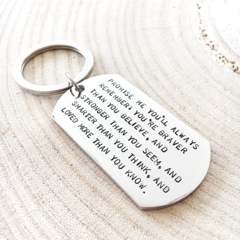 Graduation Keychain, Quote Keyring, Inspiration Gifts for Him, Birthday Gift Him