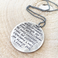 Hand Stamped Quote Necklace, Graduation Daughter Gift, Inspiration Gift