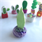 Miniature Fantasy Garden - 2 Polymer clay plants / cactus / cacti / sculpture