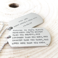 Dog Tag Necklace, Inspirational Quote Necklace, Hand Stamped Graduation Gift