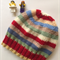 Free Post Retro Stripe Windy Day Beanie.  Hat.  Australian Wool.  Boy.  Girl.