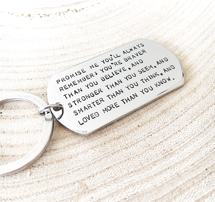 Graduation Keychain Quote Keyring Inspiration Gifts For Him Birthday Gift
