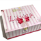 Baby Girl Keepsake Trinket Treasure Memory Wooden Box - Polka Dots
