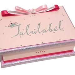 OTT Pretty in Pink Keepsake Treasure Trinket Jewellery Memory Wooden Box