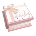 Little White & Pink Keepsake Trinket Treasure Jewellery Memory Wooden Box