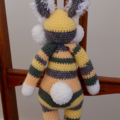 Bunny - hand crocheted bunny rabbit ; Easter, safe, washable, easter, unisex
