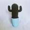 Muscle man crochet cactus in blue pot