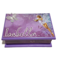 A Little Fairy Keepsake Trinket Treasure Jewellery Memory Wooden Box Purple