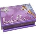 A Little Fairy Keepsake Trinket Treasure Jewellery Memory Wooden Box Purple