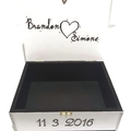 Personalised Wedding Keepsake Trinket Treasure Bridal Memory Wooden Box