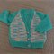 Size 6-12 months: Girls cardigan in multi colour, easy care, washable