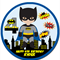 Batman Personalised Round Edible Icing Cake Topper - PRE-CUT