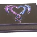 Twin Dragons Keepsake Trinket Treasure Jewellery Memory Wooden Box