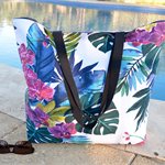 Large beach bag, floral tote