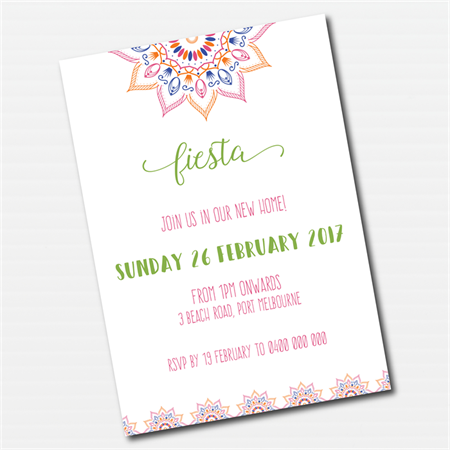 Fiesta Colourful Mandala Printable Invitation