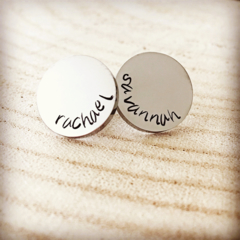 Mothers Day Earrings, Personalised For Mum, Hand Stamped Earrings, Gift For Mum