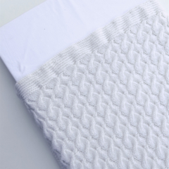Hand Knitted White/Cream Wool Baby Blanket,with Beautiful Reverse Cable Detail