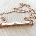 Mothers Day Gift, Hand Stamped For New Mother, Personalized Bar New Baby Gift