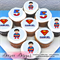"""Superman Personalised Edible Icing Cupcake Toppers - 2"""" - PRE-CUT"""
