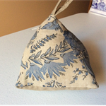French/English linen door stopper. Pyramid door stopper/paper weight.