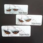 Tasmanian Myrtle Feather Stud Earrings - ONE pair