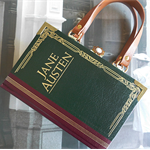Jane Austen book bag - Upcycled book - Bag made from a book