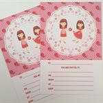 1 x set of 12 invitations