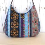 Blue shoulder bag, Bling handbag