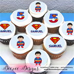 "Superman Personalised Edible Icing Cupcake Toppers - 2"" - PRE-CUT"