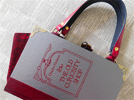 Charles Dickens book bag - The Old Curiosity Shop - Handbag made from a book