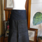 Wrap midi skirt with ties