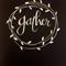 'GATHER' original hand lettering poster/wall art - White lettering