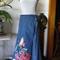 Floral trim wrap maxi skirt