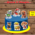 Paw Patrol XL edible cake toppers
