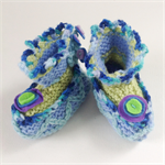 Embellished 3-6 month baby booties. One of a kind.