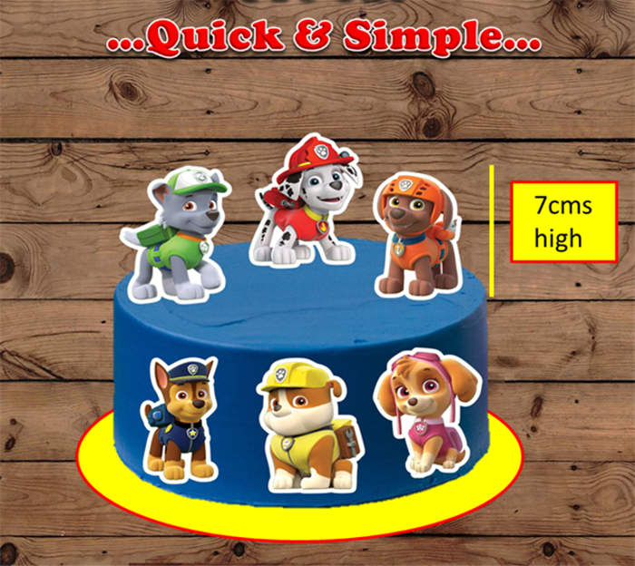 paw patrol xl edible cake toppers  top that cupcake on