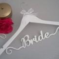 Prestigious 'BRIDE' Hanger; Elegant; Bride coat hanger; wedding hanger