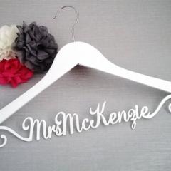 Prestigious 'NAME' Hanger; Elegant; personalised coat hanger; wedding hanger