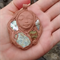 Rockpool spirit pendant- clay stone and shell goddess necklace