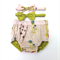 Reversible nappy cover - organic cotton - with matching bow headbands