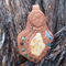 Nature spirit pendant- with turquoise and kyanite