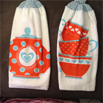 2Double thickness crochet top towels