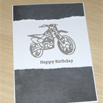 Male Happy Birthday card - dirt bike