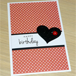 Girls Happy Birthday card - lady bug