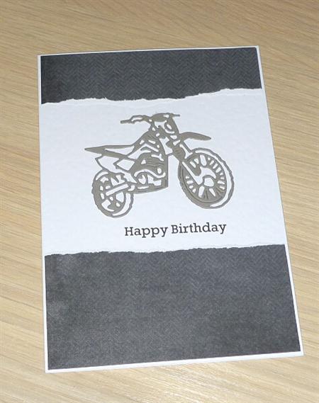 Male Happy Birthday card - dirt bike