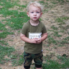 Camo shorties, cotton jersey harem shorts camouflage black trims